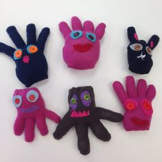 Glove Monsters made in sewing class