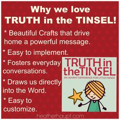 Truth in the Tinsel - the perfect advent devotional for preschoolers up through mid elementary school age! {COUPON CODE alert}