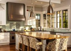 Great use of windows in this kitchen. Natural light is an unfailing space expander.