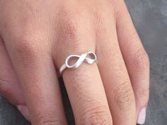 In yellow gold - solid Gold NOW & FOREVER Infinity Ring by donnaOdesigns on Etsy, $325.95