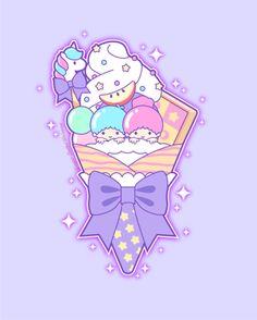 Whimsical tidbits of art, topped with a sprinkle of glitter. Sanrio Wallpaper, Kawaii Wallpaper, Little Twin Stars, Adventure Time Finale, Hello Kitty Imagenes, Sanrio Danshi, Hello Kitty My Melody, Kawaii Art, Kawaii Style