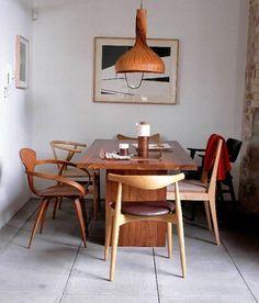 Verschiedene Speisestühle Deko Holz Idee