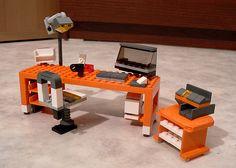 LEGO 7991 alternate MOC: Office Desk | Flickr - Photo Sharing!