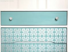 painted dresser drawers