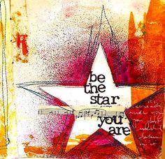you are a star: Art Journaling - Dina Walkey