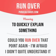 Run over #English
