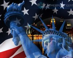 21 best americana powerpoint templates images on pinterest role statue of liberty powerpoint template with new york city backgrounds themes of america united toneelgroepblik Image collections