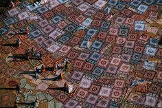 YannArthusBertrand2.org - Fond d écran gratuit à télécharger || Download free wallpaper - Cotonnades séchant au soleil à Jaipur, Rajasthan, Inde (26°55' N - 75°49' E).