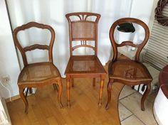 vintage 3 alte antike Stühle Stuhl shabby chic von WINTER-STYLE auf DaWanda.com