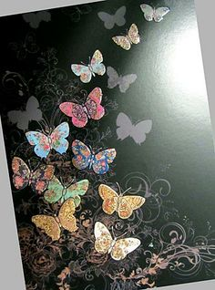 Bug Art 'Jewels' greeting card - Butterfly Flight by Jane Crowther