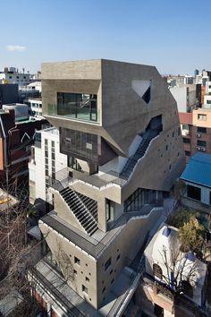 "Bang by Min Designs the Towering ""Interrobang"" Mixed-Use Building in Seoul"