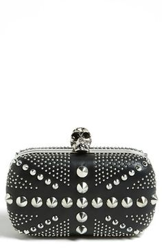 Alexander McQueen 'Britannia' Studded Skull Clutch available at #Nordstrom