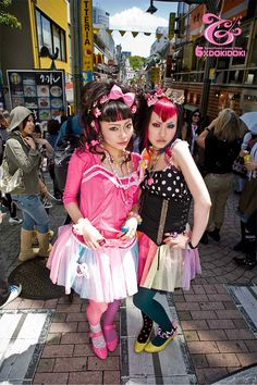 Yuka and Benny! :D -Yes you cant go to Japan and not visit Harajuku. A fun place to shop, lots of cool fashion.