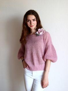 Розовое облако мохер камелот 152 гр. спицы 4