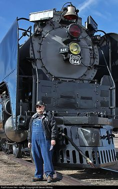 Net Photo: UP 844 Union Pacific Steam at Cheyenne, Wyoming by Steven Mckay Union Pacific Train, Union Pacific Railroad, Train Car, Train Tracks, Old Steam Train, Railroad Photography, Old Trains, Train Pictures, Train Engines