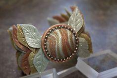 premo! Dramatic Leaf Cuff Bracelet #Polymer #Clay #Tutorials