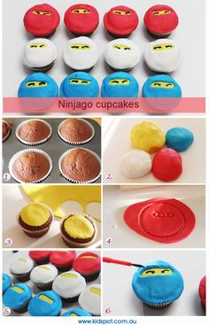 Google Image Result for http://d33y93cfm0wb4z.cloudfront.net/Lauren/Activities/Ninjago_cupcakes_montage.jpg