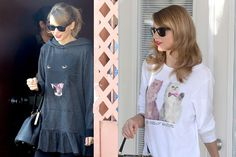Taylor Swift Shows You How To Make A Cat Sweatshirt Look Cute