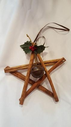 "5"" by 5"" Cinnamon star ornament"
