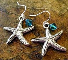 Starfish Earrings Ocean Jewelry Beach Jewelry by CharmAccents,