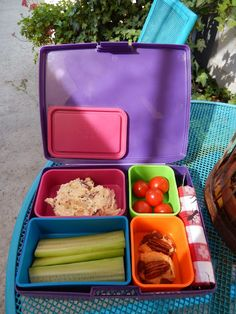 theworldaccordingtoeggface: Post Weight Loss Surgery Menus: Chicken Salad Bento Box Lunch with Cucumber Scoopers - Quest Bar Cookies