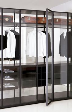modern Minimalist Walk-in Closet Innovative Design, Cabina Armadio by Porro Glass Wardrobe, Walk In Wardrobe, Bedroom Wardrobe, Wardrobe Design, Corner Wardrobe, Wardrobe Sale, Wooden Wardrobe, Small Wardrobe, Pax Wardrobe
