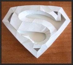 3d Paper Crafts, Paper Toys, Paper Art, Paper Crafting, Dc Comics, Origami, Papercraft Download, Superman Logo, Paper Magic