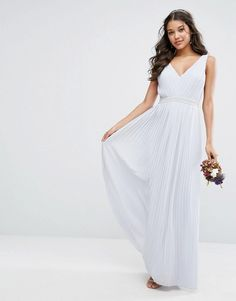 TFNC WEDDING Maxi Dress with Embellished V Back