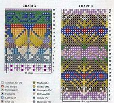 Fair Isle Knitting Patterns, Crochet Patterns, Wrist Warmers, Knitting Projects, Mittens, Cross Stitch Patterns, Knitted Hats, Knit Crochet, Kids Rugs