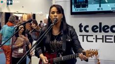 VoiceLive 3 - funk demo with Selena Evangeline - NAMM 2015