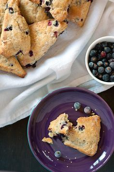 blackcurrant-scones with whole wheat flour.