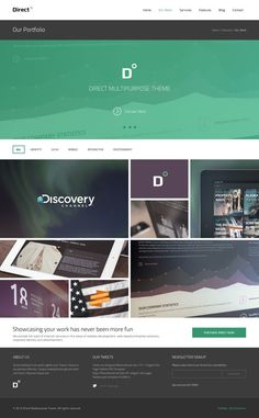 Direct Multipurpose PSD Theme by Serge Mistyukevych, via Behance