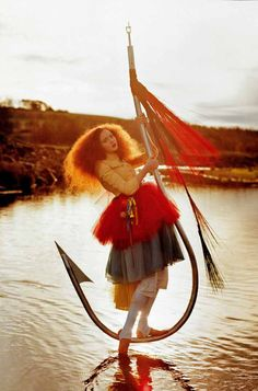 View Lily on fish hook Lily Cole by Tim Walker on artnet. Browse more artworks Tim Walker from Galerie Frank Fluegel. Lily Cole, Tim Walker Photography, Art Photography, Fashion Photography, Photography Contract, Photography Lighting, Glamour Photography, Lifestyle Photography, Whimsical Photography