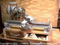 Gingery-Style Lathe by Lionel Oliver II -- Homemade Gingery-style lathe constructed from plans and featuring custom-cast components. http://www.homemadetools.net/homemade-gingery-style-lathe