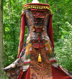 Patchwork SWEATER COAT woodland pixie style with long elf hood. Size Large. Ready to ship