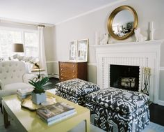 ottomans & chest of drawers