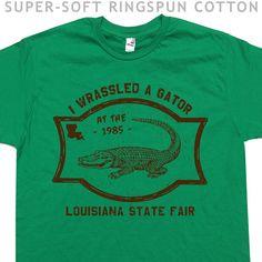 Gator Wrestling T Shirt Funny T Shirt wwf by Shirtmandude on Etsy