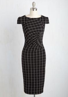 Oops! I Grid it Again Dress, #ModCloth