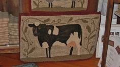 What a cute big guy! This cow is part of our Farm Friends Series, there are four rugs available in the series, as well as one large rug with all four animals. Rug Hooking Kits, Rug Hooking Patterns, Rug Patterns, Cow Rug, Animal Rug, Hand Hooked Rugs, Scrappy Quilts, Quilting, Quilt Kits