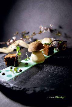 Chef Geoffrey Poësson - Restaurant La Badiane Ste Maxime Menthe et chocolat dans l'esprit d'un sous bois...