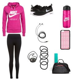 """Gym"" by cierairving03 ❤ liked on Polyvore featuring Oysho, NIKE and Wet Seal"