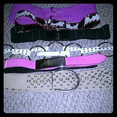 BELTS BELTS BELTS Nice collection of belts. Flexible with which belts included in offer. Offer not valid on designer belts. Accessories Belts