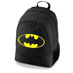 BATMAN LOGO DC COMIC SUPERHERO - BACKPACK SCHOOL COLLEGE SPORT BAG