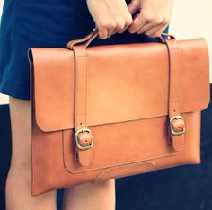 Fancy - Fabrix Leather Satchel for MacBook Pro or Macbook Air @ShopDesCreateurs.com