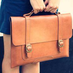 Fancy - Fabrix Leather Satchel for MacBook Pro or Macbook Air @ShopDesCreateurs.com