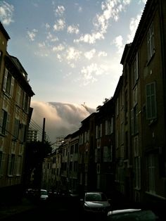 Corcovado, Rio de Janeiro - from my street...waves clouds!