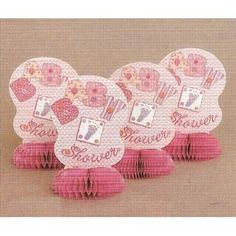 Pink Stitch Themed Honeycomb Table Decorations