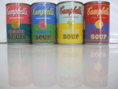 Andy-Warhol-Campbells-Soup-Cans-2012-Target-LTD-ED-50th-Anniversary-Set-of-4-VG