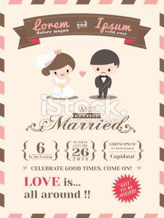 Wedding invitation card template stock vector art 26220894 - iStock
