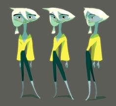 Character design with smudges (*whispers* - And a few lines)